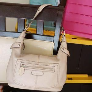 Cream Coach shoulder, handbag